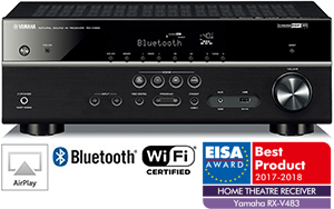 yamaha rx v483 5 1 av wi fi bluetooth airplay globalaudio. Black Bedroom Furniture Sets. Home Design Ideas
