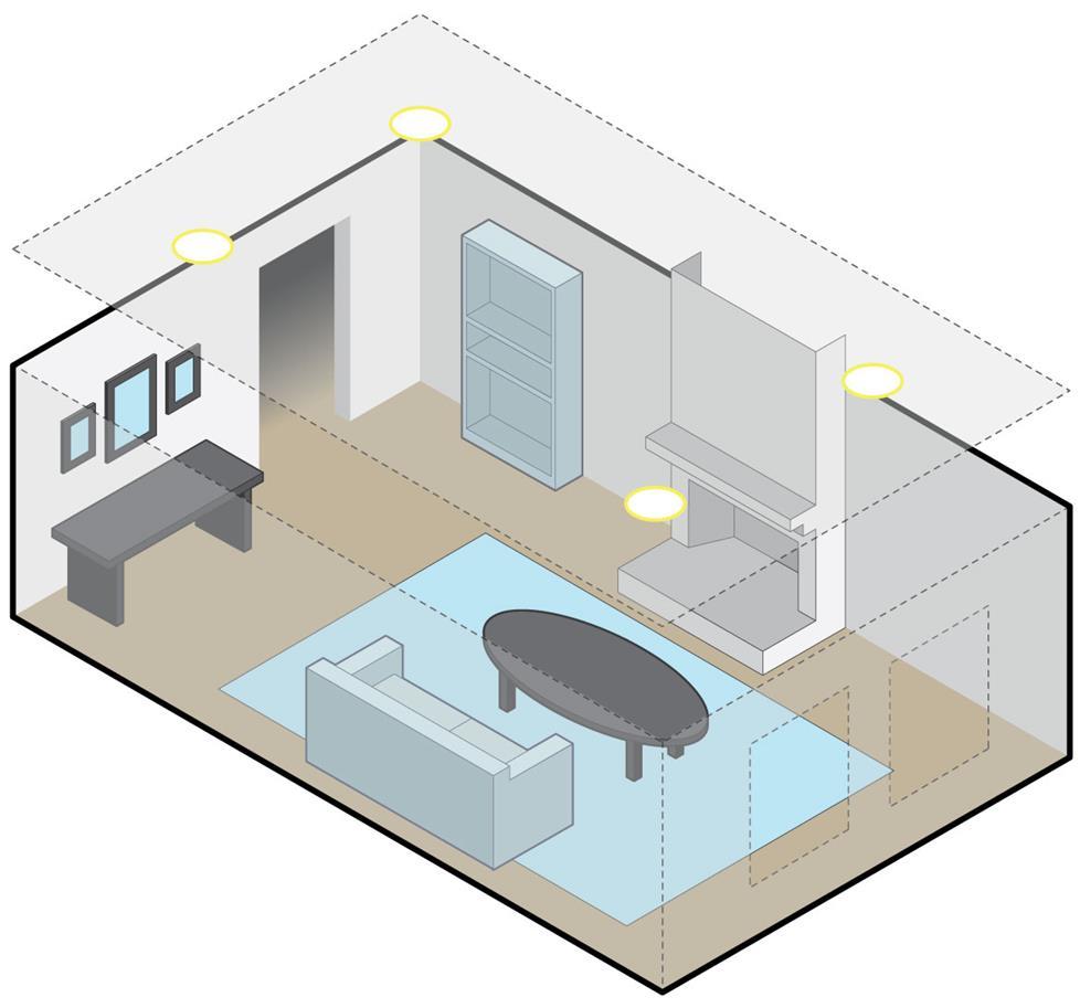 Размещение и установка громкоговорителей в стене и потолке