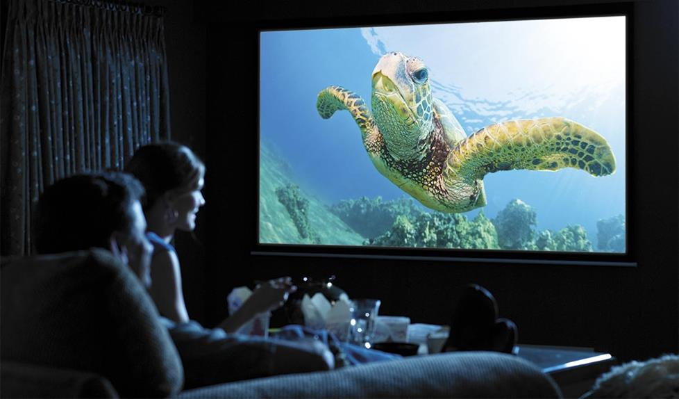 Movie projector with